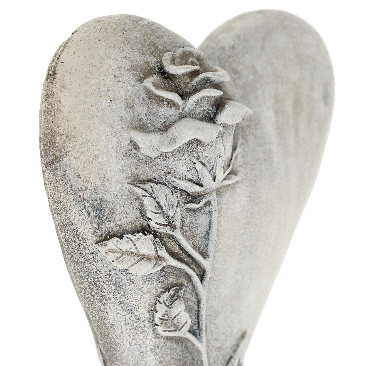 herz mit rose grau 165cm x 10cm 2st kaufen in schweiz