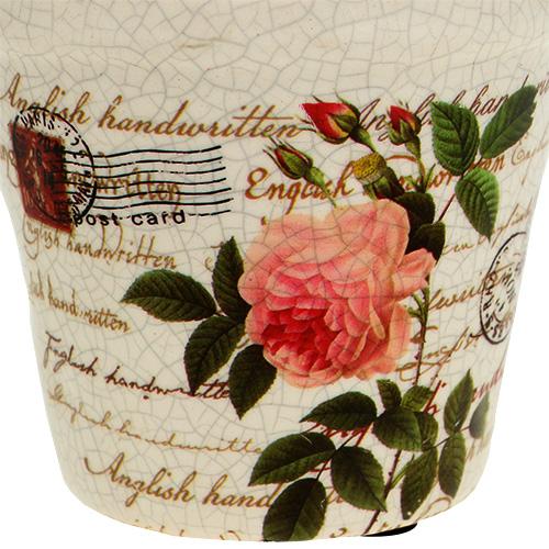 keramik topf mit rosen 8 5cm h7 5cm kaufen in schweiz. Black Bedroom Furniture Sets. Home Design Ideas