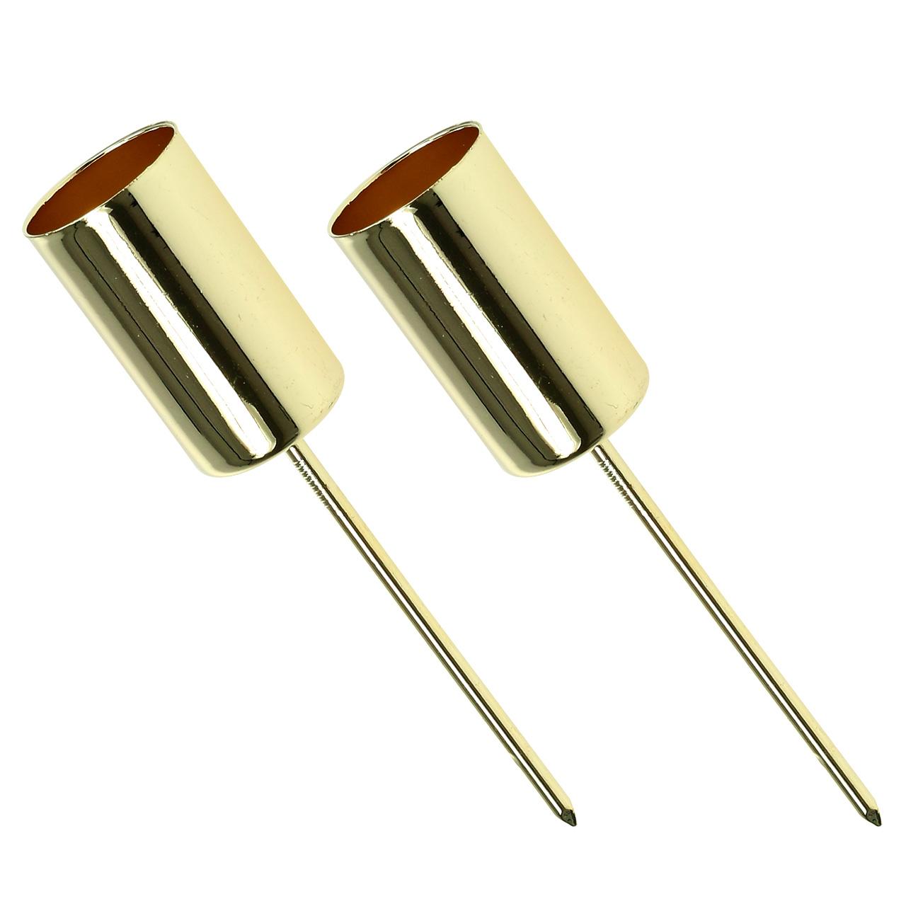 kerzenhalter gold f r stabkerzen 2 2cm 4st kaufen in schweiz. Black Bedroom Furniture Sets. Home Design Ideas