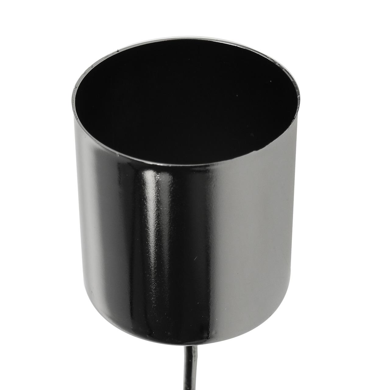 kerzenhalter anthrazit f r stabkerzen 3 5cm h4cm 4st. Black Bedroom Furniture Sets. Home Design Ideas