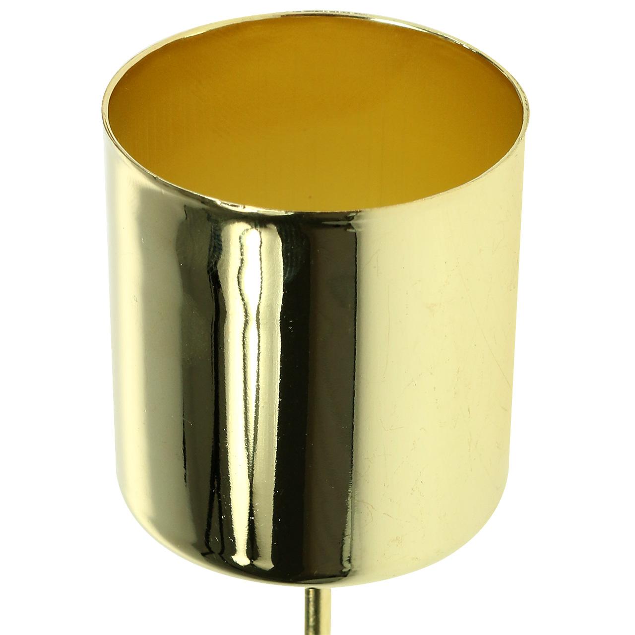 kerzenhalter f r stabkerzen gold 3 5cm h4cm 4st kaufen in. Black Bedroom Furniture Sets. Home Design Ideas