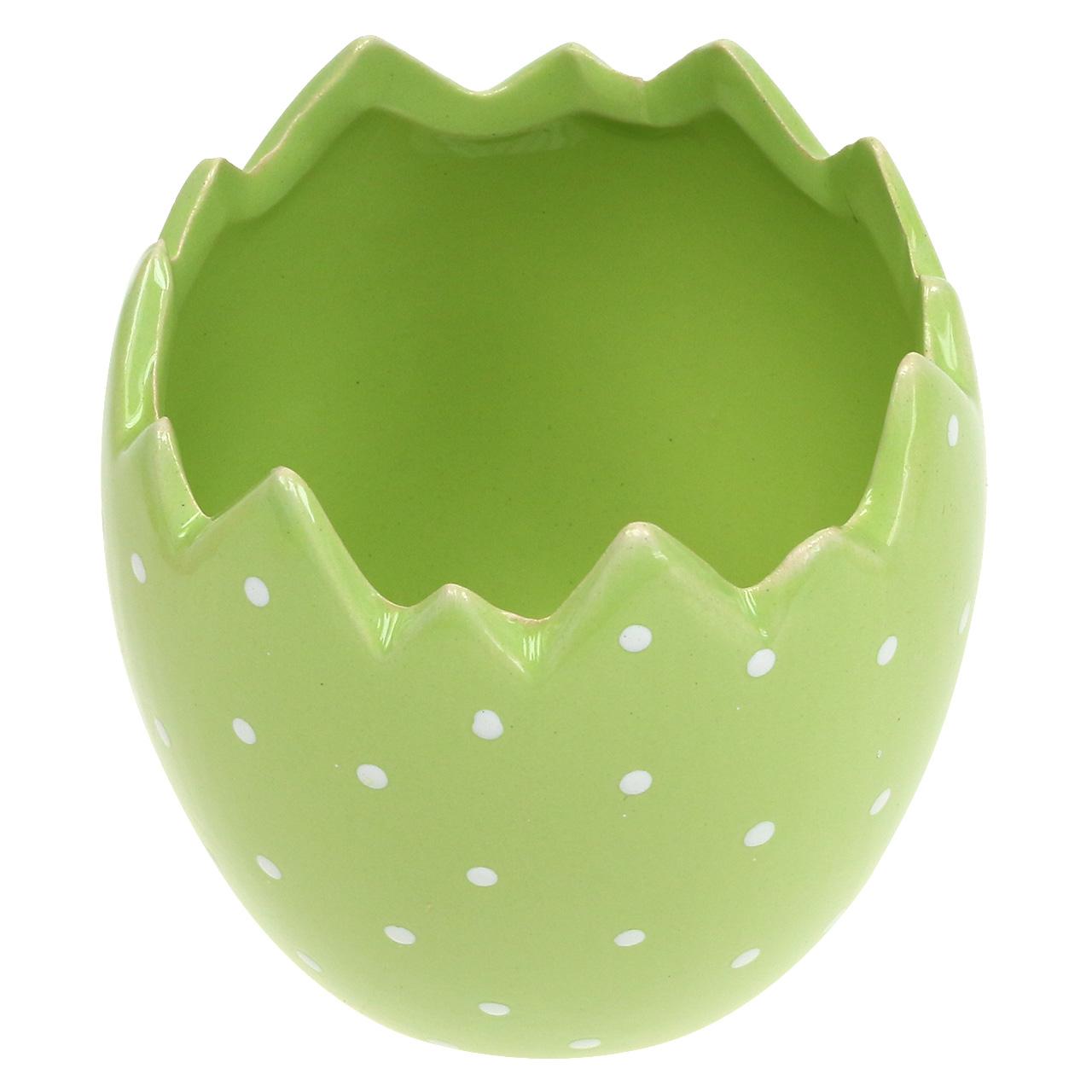 Grüne Eierschale