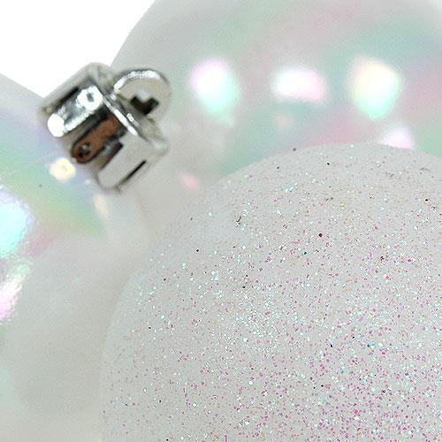 kugelmix plastik wei perlmutt 5cm 9st kaufen in schweiz. Black Bedroom Furniture Sets. Home Design Ideas