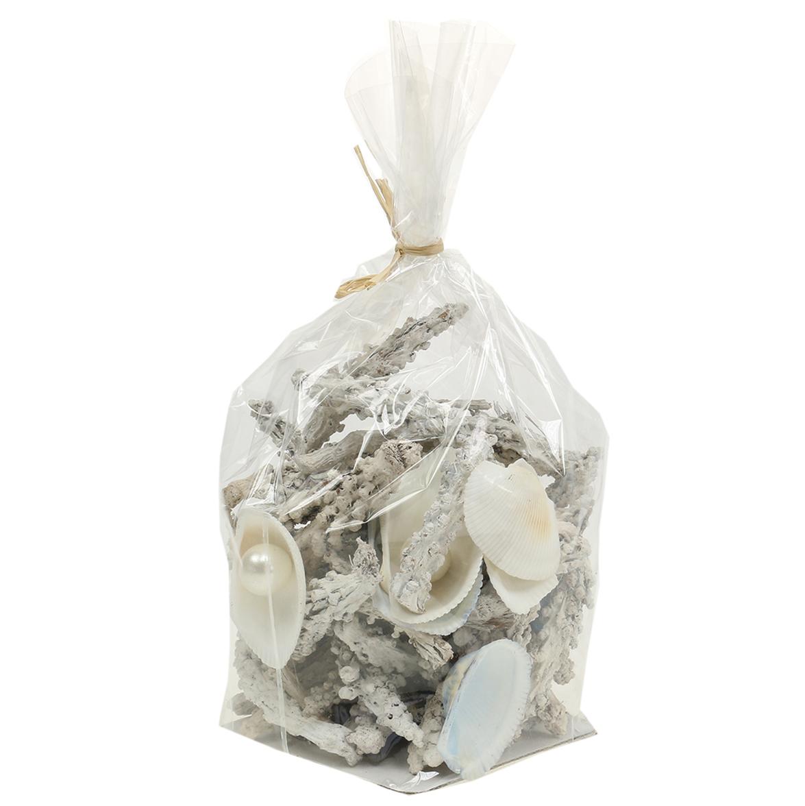 muschelmix mit perle und holz weiß 200g836745weiß