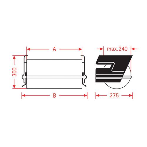 papier folien untertisch abroller zac 50cm kaufen in schweiz. Black Bedroom Furniture Sets. Home Design Ideas