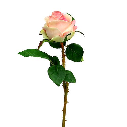 rose k nstlich creme rosa 9cm l45cm 1st kaufen in schweiz. Black Bedroom Furniture Sets. Home Design Ideas