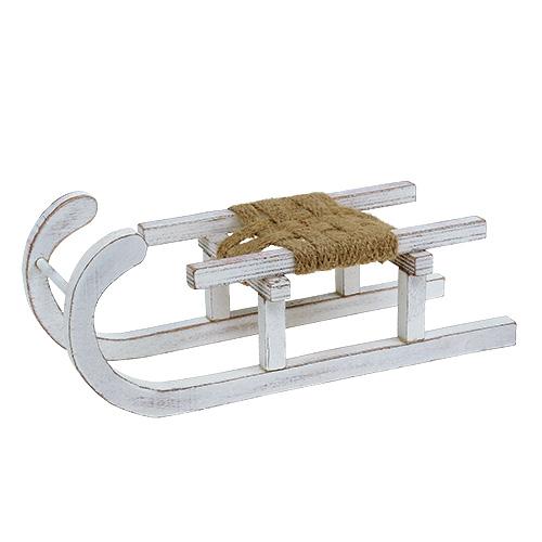 schlitten aus holz wei 28cm x 11cm x 11cm 1st kaufen in schweiz. Black Bedroom Furniture Sets. Home Design Ideas