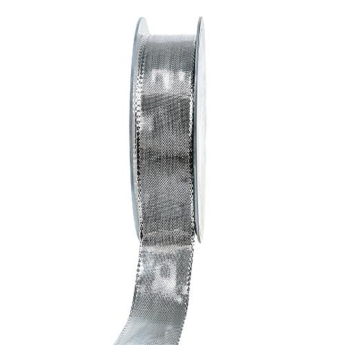 Seidenband mit draht silber 25mm 25m kaufen in schweiz for Silberdraht kaufen