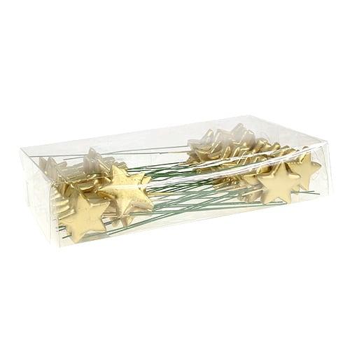 sterne am draht zum basteln gold 5cm l23cm 48st kaufen in. Black Bedroom Furniture Sets. Home Design Ideas