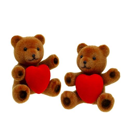 teddy beflockt 10cm mit herz 6st kaufen in schweiz. Black Bedroom Furniture Sets. Home Design Ideas