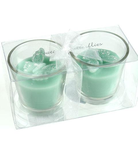 deko teelichter im glas mit schmetterling 2st kaufen in. Black Bedroom Furniture Sets. Home Design Ideas