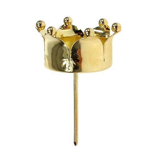 teelichthalter krone gold 4 8cm 4st kaufen in schweiz. Black Bedroom Furniture Sets. Home Design Ideas
