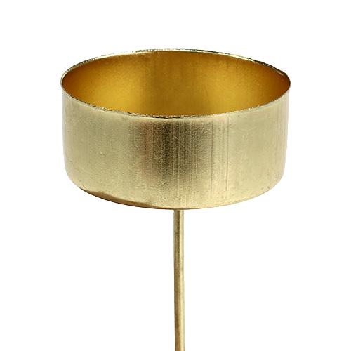 teelichthalter gold 4cm l7cm 4st kaufen in schweiz. Black Bedroom Furniture Sets. Home Design Ideas