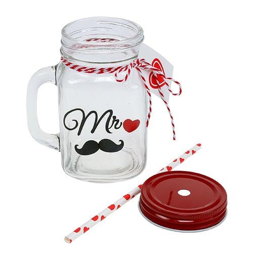 Trinkglas mit deckel mr und mrs 13 5cm 2st kaufen in for Deckel trinkglas