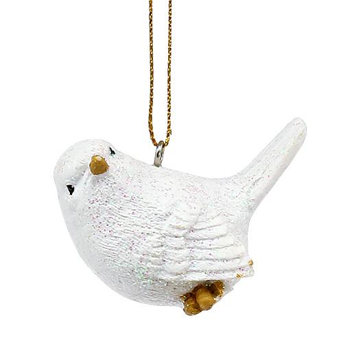 vogel wei mit glimmer 5cm 3st kaufen in schweiz. Black Bedroom Furniture Sets. Home Design Ideas