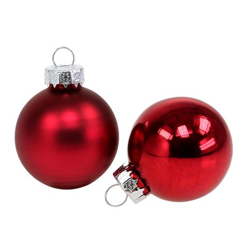 weihnachtskugel 4cm rot glanz matt 24st kaufen in schweiz. Black Bedroom Furniture Sets. Home Design Ideas