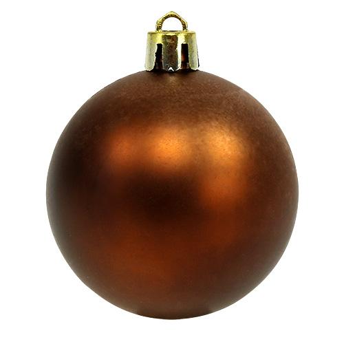 weihnachtskugel plastik 6cm braun gold 20st kaufen in schweiz. Black Bedroom Furniture Sets. Home Design Ideas