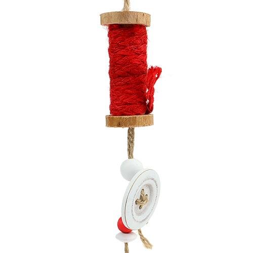 weihnachtsschmuck garnrolle zum h ngen rot 4st kaufen in. Black Bedroom Furniture Sets. Home Design Ideas