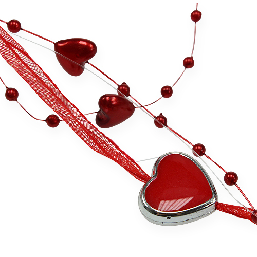 deko band mit perlen herzen rot 10mm 2m kaufen in schweiz. Black Bedroom Furniture Sets. Home Design Ideas
