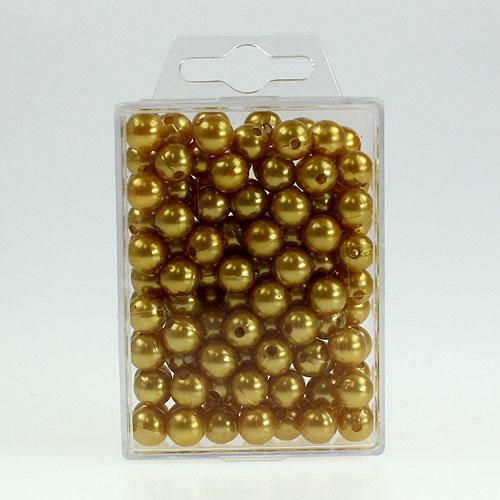 deko perlen 10mm gold 115st kaufen in schweiz. Black Bedroom Furniture Sets. Home Design Ideas