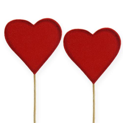 deko holzherz rot 5cm 24st kaufen in schweiz. Black Bedroom Furniture Sets. Home Design Ideas
