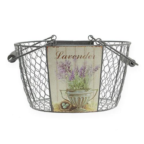 metallkorb oval mit lavendel motiv l27cm h15 5cm kaufen in schweiz. Black Bedroom Furniture Sets. Home Design Ideas