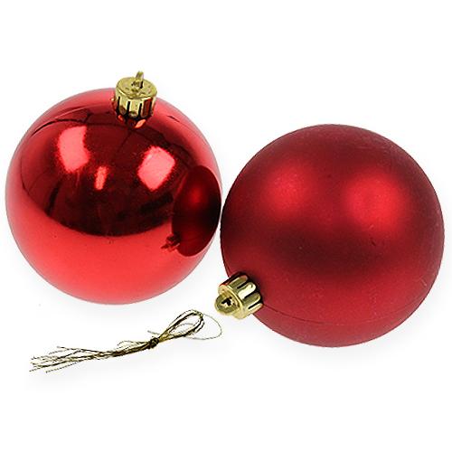 weihnachtskugel rot 10cm 4st kaufen in schweiz. Black Bedroom Furniture Sets. Home Design Ideas