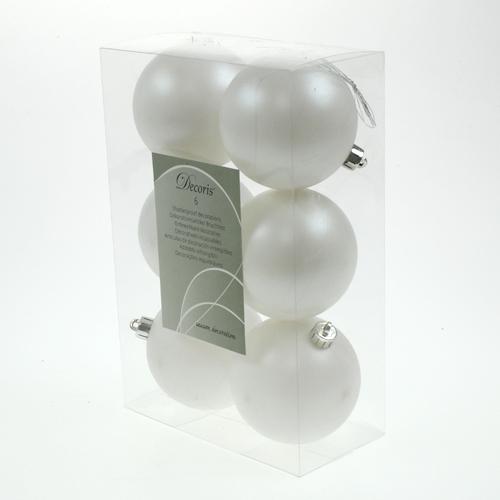christbaumkugeln plastik wei 8cm 6st kaufen in schweiz. Black Bedroom Furniture Sets. Home Design Ideas