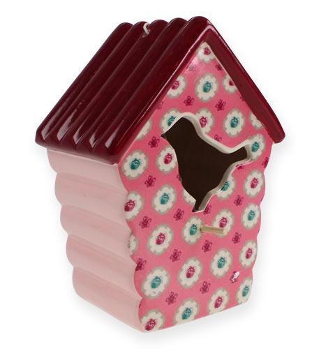 karamik vogelhaus zum h ngen rosa 19 5cm kaufen in schweiz. Black Bedroom Furniture Sets. Home Design Ideas