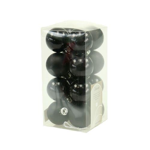 weihnachtskugel plastik 4cm schwarz 16st kaufen in schweiz. Black Bedroom Furniture Sets. Home Design Ideas