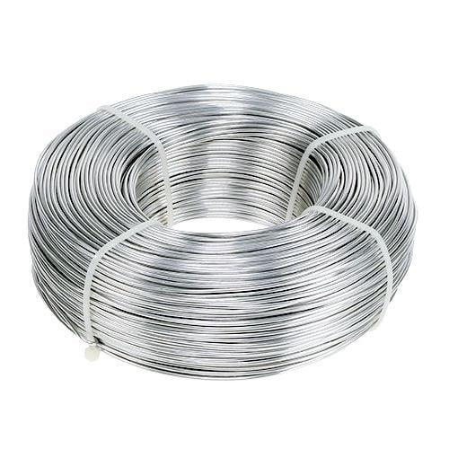 Aluminiumband feines Aluband 30mm breit Biegedraht Basteldraht Silber 3 m