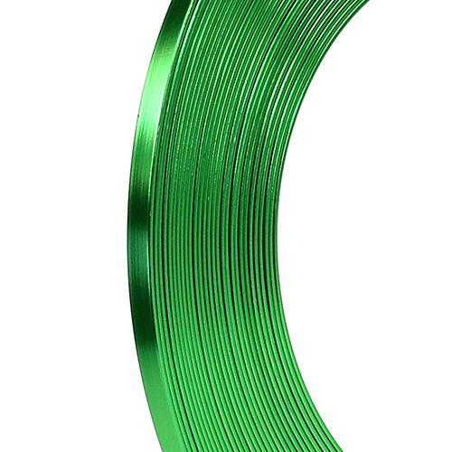 Aluminium Flachdraht Apfelgrün 5mm 10m