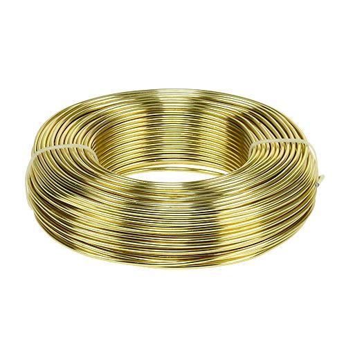 Aluminiumdraht Ø2mm 500g 60m Gold