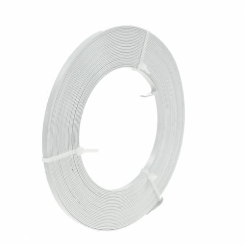Aluminium-Flachdraht 5mm 10m Weiß Schmuckdraht