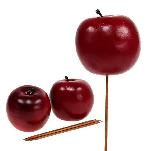 Apfel künstlich Rot Ø7,5cm 6St