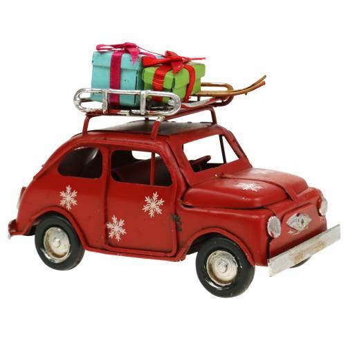 Weihnachts-Auto mit Paketen Rot L11cm