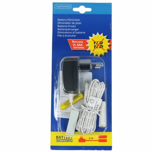Batterie-Adapter Weiß 3m 3V 2 x AAA