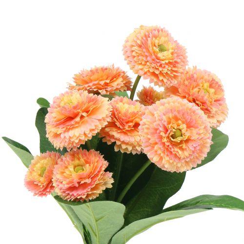 Gänseblümchen künstlich Pfirsichfarben 24cm 2St