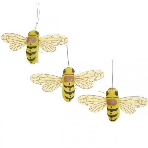 Dekoklammer Biene, Frühlingsdeko, Biene zum Klemmen, Geschenkdeko 3St