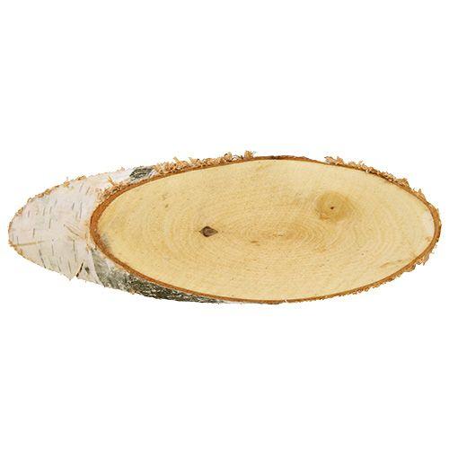 Birkenscheiben oval Natur 10St