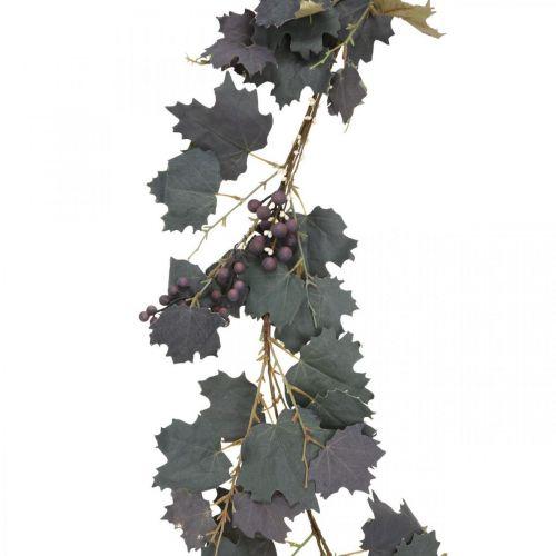 Deko Girlande Weinlaub und Trauben Herbstgirlande 180cm