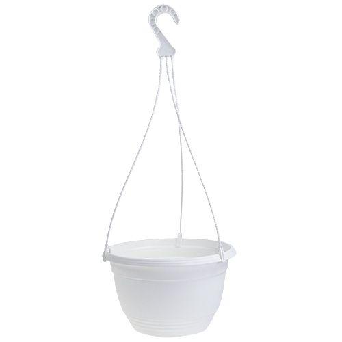 Blumenampel Ø30cm Weiß