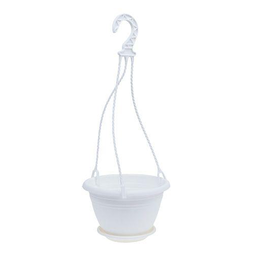 Blumenampel Galicia Weiß Ø20cm H12cm