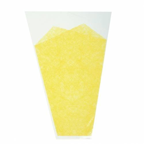 Blumentüte Jute-Muster Gelb L36cm B25cm - 12cm 50St