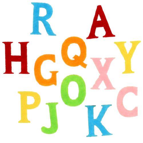 Buchstaben aus Filz bunt sortiert 2,5cm - 3cm 150St