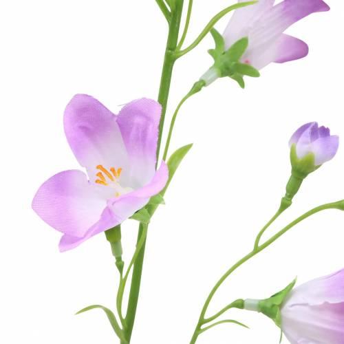 Künstliche Glockenblume Campanula Violett Weiß 66cm