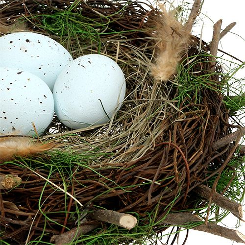 Deko Nest mit Eiern Ø30cm 1St