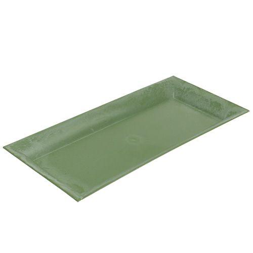 Deko-Tablett Grün 36cm x 17cm