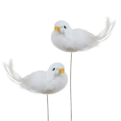 Deko-Tauben am Draht Weiß 9cm 6St kaufen in Schweiz
