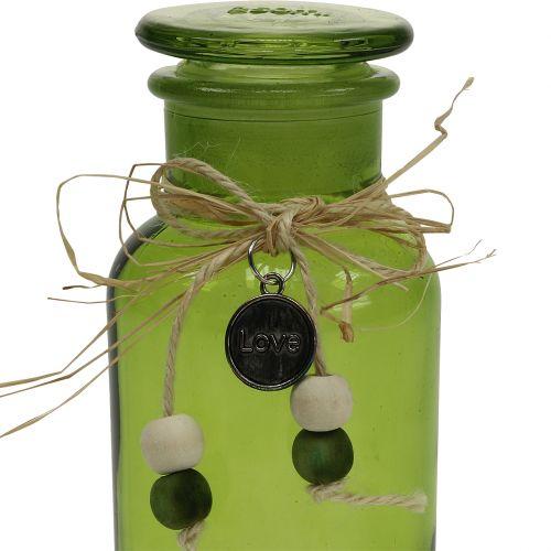 Deko Apotheker-Flasche Grün Ø6,5cm H13cm